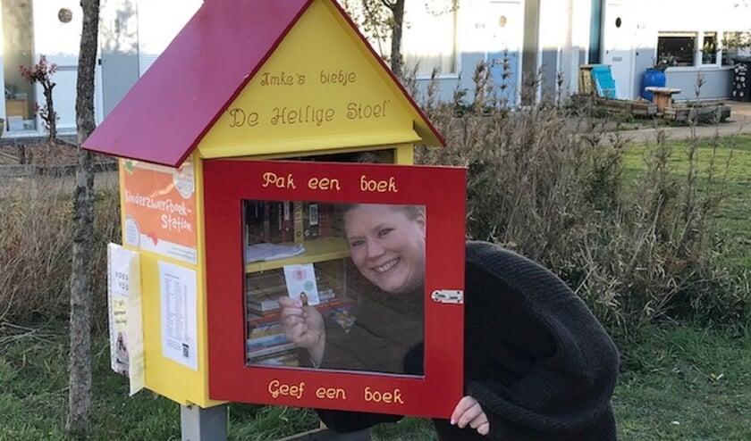 """<p>Imke Renkens bij haar biebje: """"Hier word ik vrolijk van.""""</p>"""