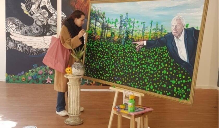 <p>Weer een groene stip op het kunstwerk &#39;David Attenborough Rewilds The World&#39;.&nbsp;</p>