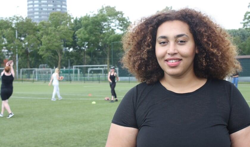 <p>Kanessa Muluneh tijdens een clinic die afgelopen zomer in Eindhoven werd gehouden. (Foto: Rob Weekers).</p>