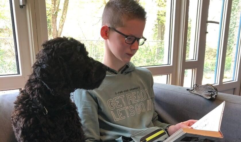 <p>De schoolhond Dexter is lief voor de leerlingen, enthousiast en heel leergierig.&nbsp;</p>