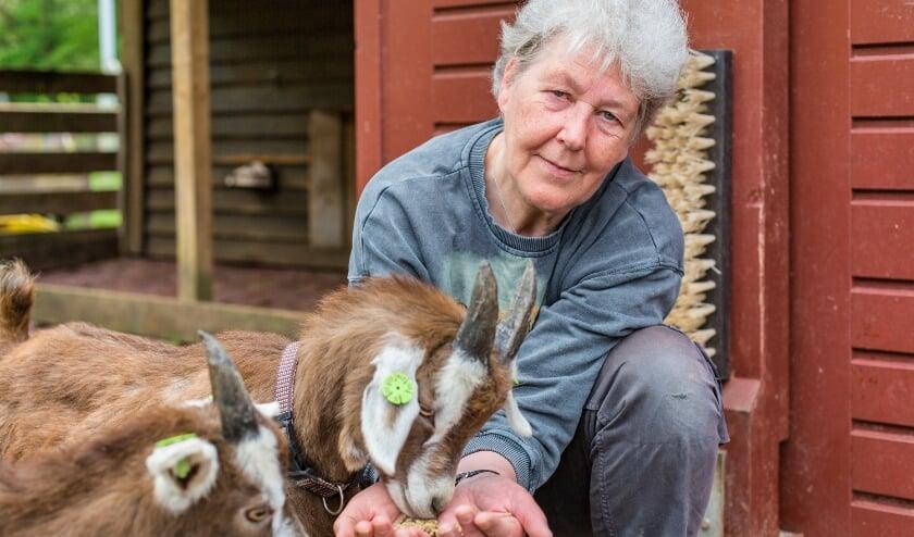 <p>Marijke de Both voert de jonge geitjes. Zij is blij dat de kinderboerderij vanaf vandaag na bijna een half jaar weer geopend is voor publiek.&nbsp;</p>