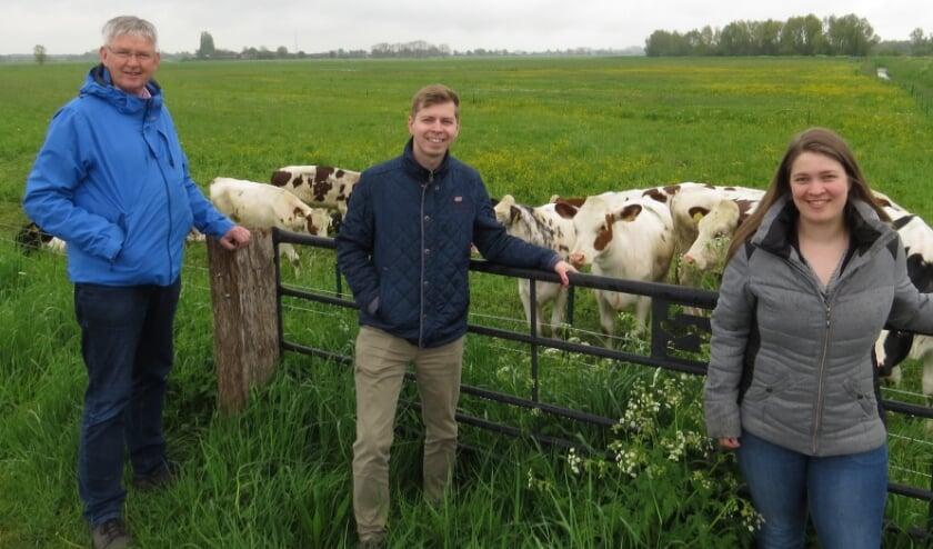 <p>Drie CDA&#39;ers die gaan meedoen aan de wandelingen; van links af fractievoorzitter Teun Juk, commissielid Robert Klaassen en raadslid Judith van Duinen.</p>
