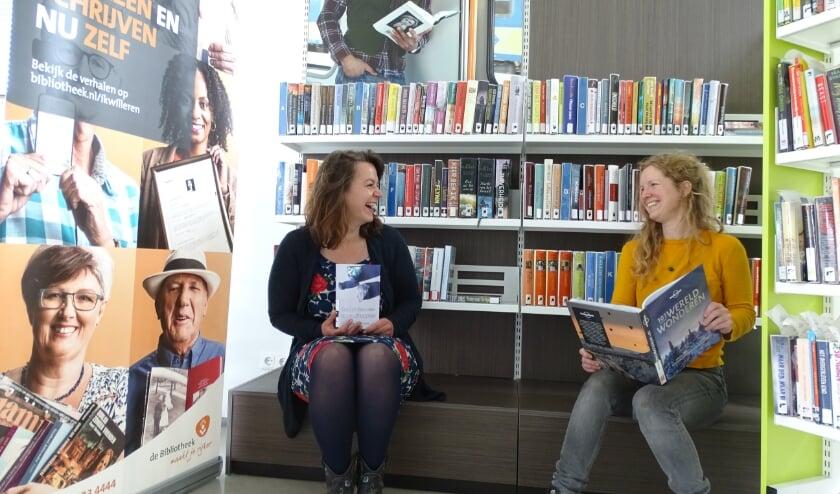 Felice Mul en Janneke van Riel zijn van het team basisvaardigheden van de Bibliotheek van Het Groene Hart