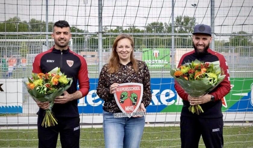 <p>El Amraroui en zijn collega Kawa Hisso zijn met ingang van het nieuwe seizoen de keeperstrainers van de JO17, JO19 en de Selectie keepers van AVV Alphen.&nbsp;</p>