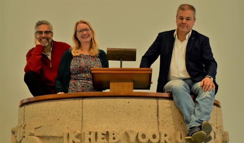 <p>Scheidend predikanten Henk, Irma en Sjaak vulden elkaar bijzonder goed aan.</p>