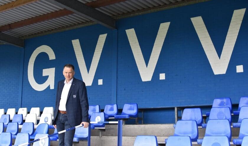 <p>G.V.V.V.-voorzitter Barry van de Lagemaat. ''We hebben de ruimte en de tijd gekregen om ons meer maatschappelijk bezig te houden.''</p>