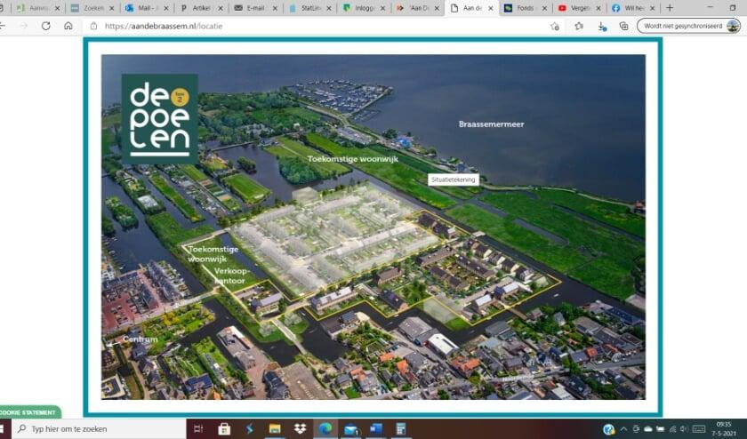 <p>Het bouwproject &#39;Aan de Braassem&#39;, printscreen van de website www.aandebraassem.nl</p>