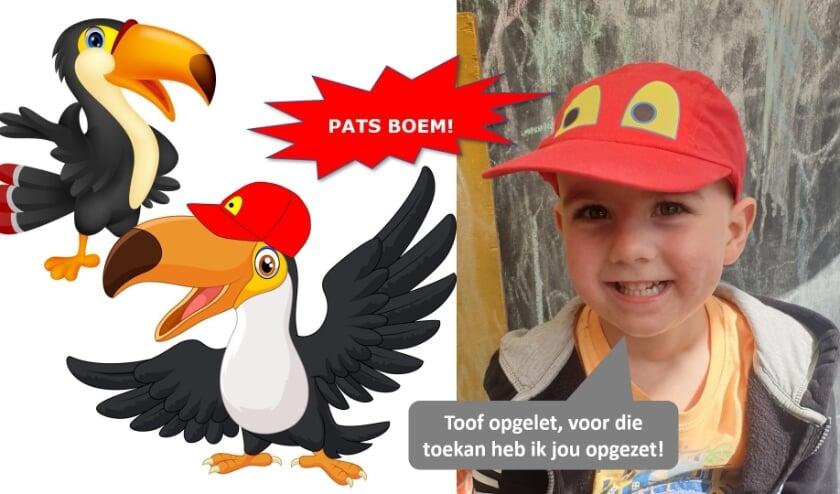 <p>Thijs Bumann zet de Toof Pet op en verandert PATS BOEM in een toekan.</p>