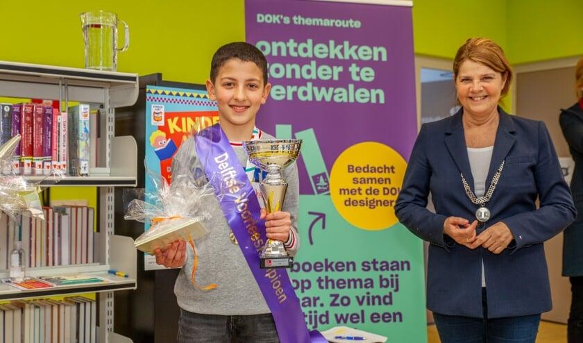 <p>Mohammed na de winst van de Delftse voorronde</p>