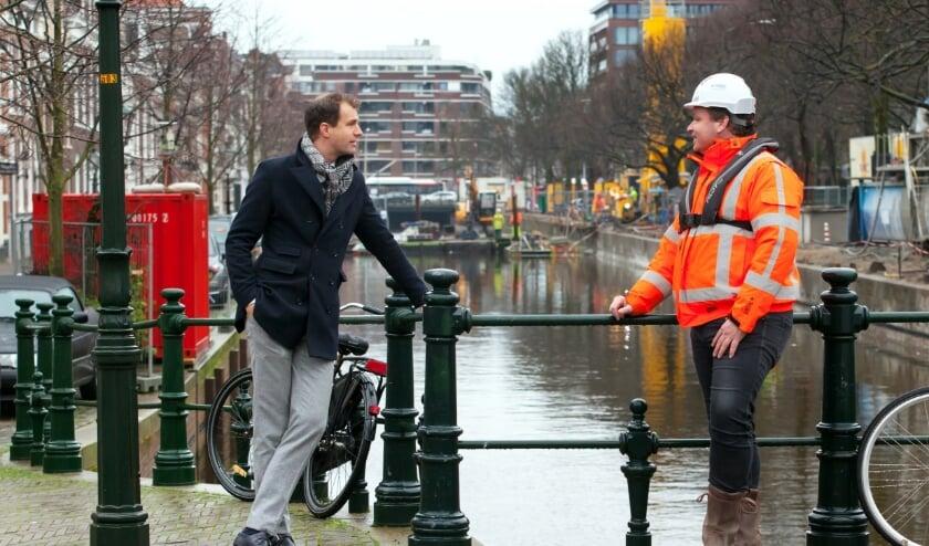 <p>Wethouder Hilbert Bredemeijer op bezoek bij de werkzaamheden bij de Prinsessewal.</p>