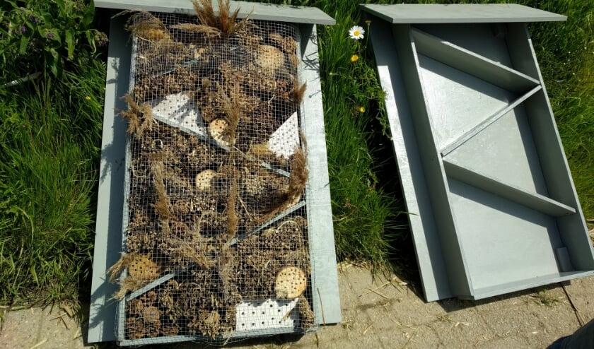 <p>Nieuwe bijenhotels.</p>