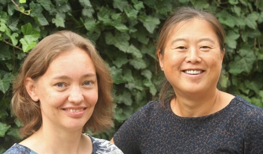 <p>Dina Creemers en Lihui Hu van De Praktijk Internisten&nbsp;</p>
