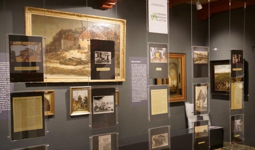 <p>De Zicht op Hattem-zaal met de minitentoonstelling over de geschiedenis van het museum. </p>