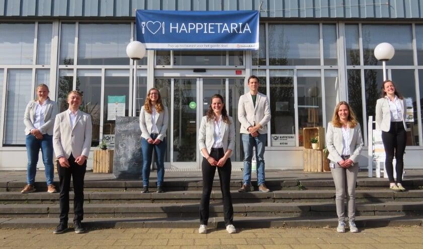 Het Happietaria Management Team 2021 aan het eind van het project