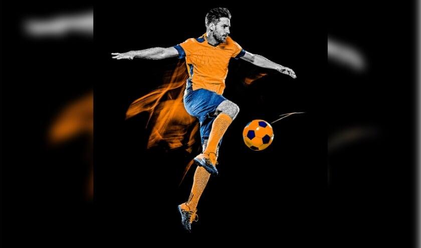 Een voetballer, deze foto is aangekocht door ons en kan dus gebruikt worden.
