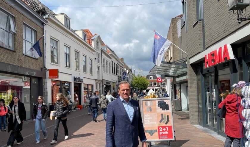 Paul Loeff vindt dat er actie nodig is om de binnenstad levendig te houden.