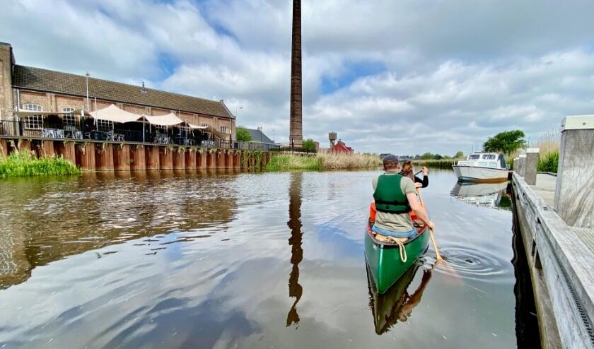 Voor het eerst met de nieuwe kajak de Oude IJssel op, spannend!